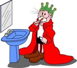 Reizinho escovando os dentes